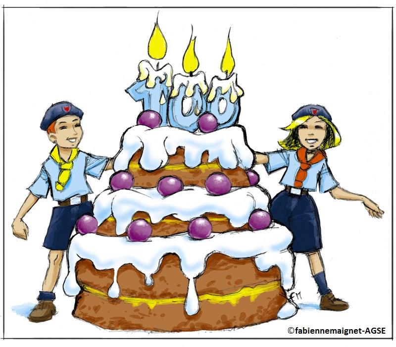160 scouts de 8 à 12 ans du morbihan fêtent le centenaire du louvetisme