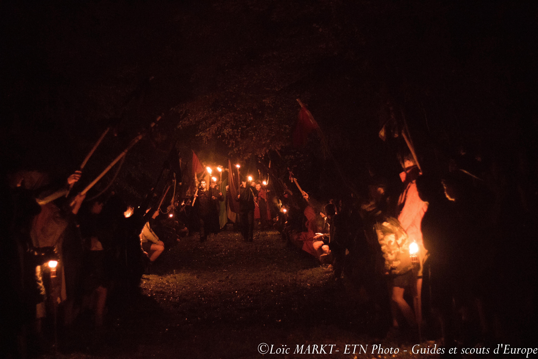 Les scouts bretons répondent à l'appel de Anne de Bretagne !